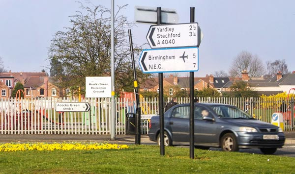 Location, Map & Directions > Elmdon Lodge Guesthouse Birmingham